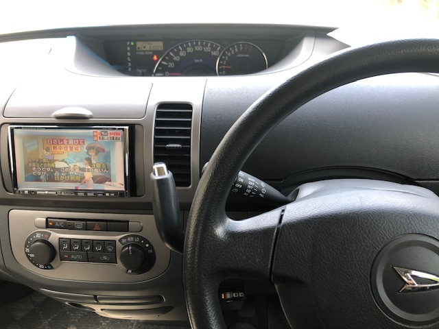 タントカスタム VS 実走行63,005km 車検令和2年8月迄 HDDナビ テレビ付 ハーフレザーシート オートエアコン スマートキー 禁煙車 軽自動車_画像10