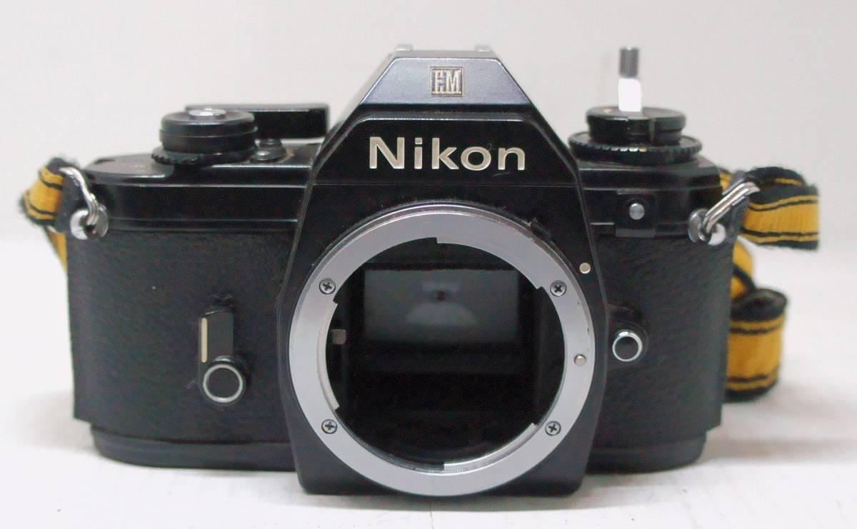 ☆綺麗な外観・送料無料・シャッターOK☆ ~フィルムレフ1眼レフカメラ(Fマウント)~ ニコン Nikon EM (A2019D0462) _画像3