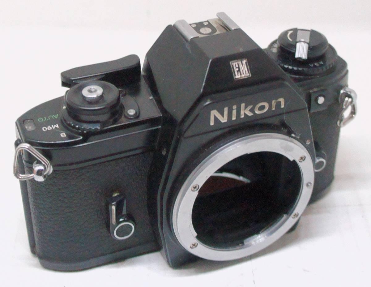 ☆綺麗な外観・送料無料☆ ~フィルムレフ1眼レフカメラ(Fマウント)~ ニコン Nikon EM (A2019D0463)_画像2