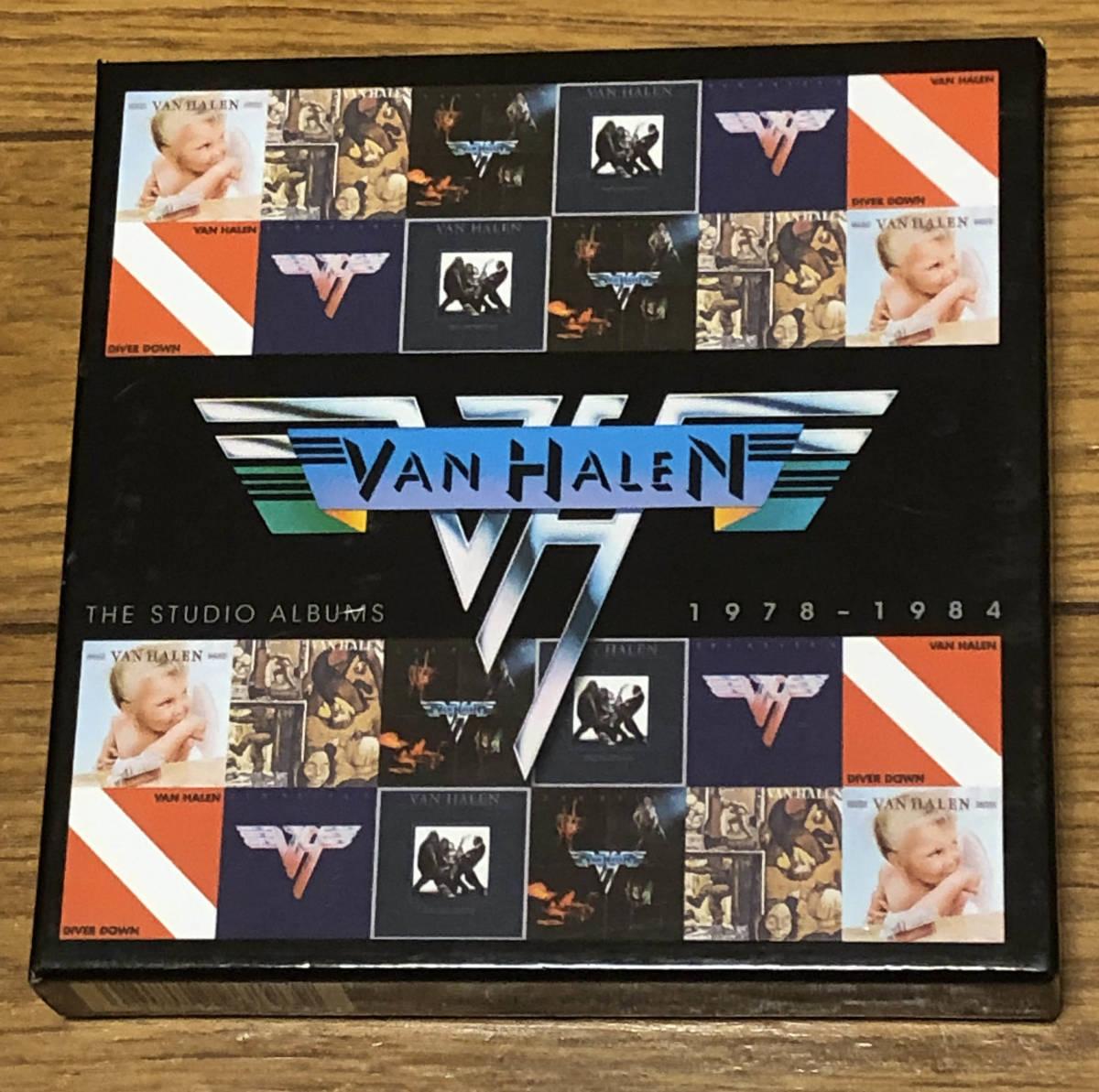 ヴァン・ヘイレン(VAN HALEN)「THE STUDIO ALBUMS 1978-1984」CD6枚組 紙ジャケBOX仕様輸入盤美品 送料無料