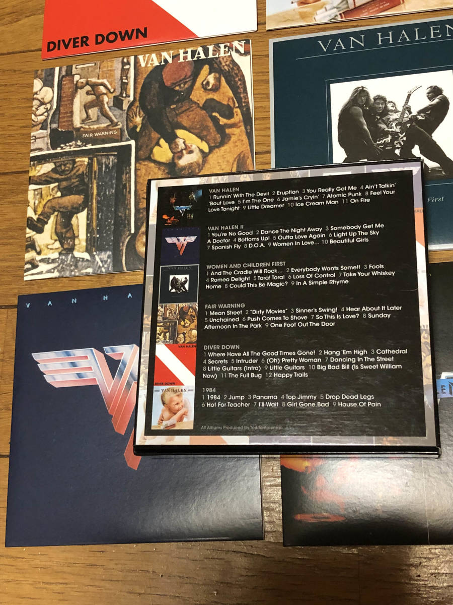 ヴァン・ヘイレン(VAN HALEN)「THE STUDIO ALBUMS 1978-1984」CD6枚組 紙ジャケBOX仕様輸入盤美品 送料無料_画像4