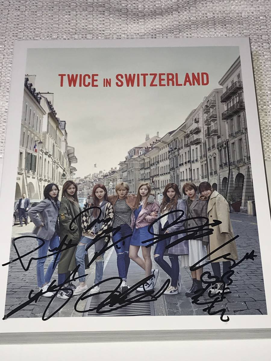 TWICE@韓国発売「TWICE IN SWITZERLAND」Photobook+DVD+Postcard@直筆サイン