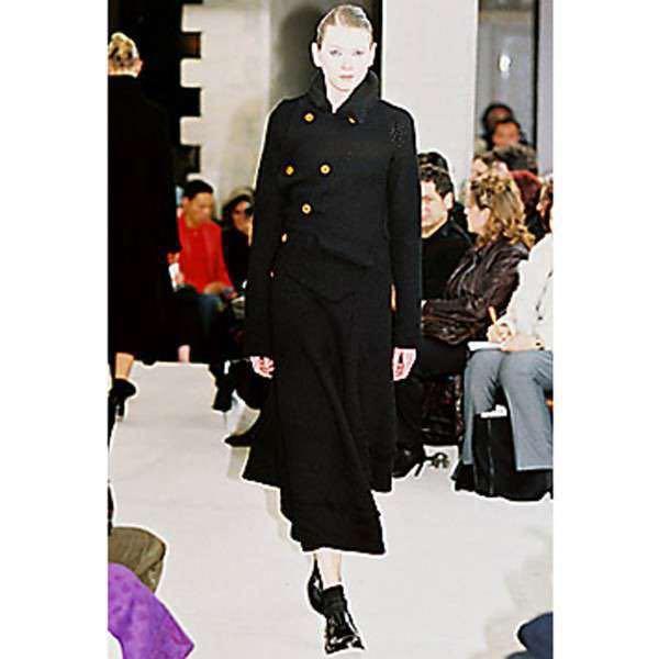【02AW】Comme des Garcons 名作 変形 捻れ ニット トレンチコート Sサイズ Knitting is free期 ランウェイ登場モデル コムデギャルソン