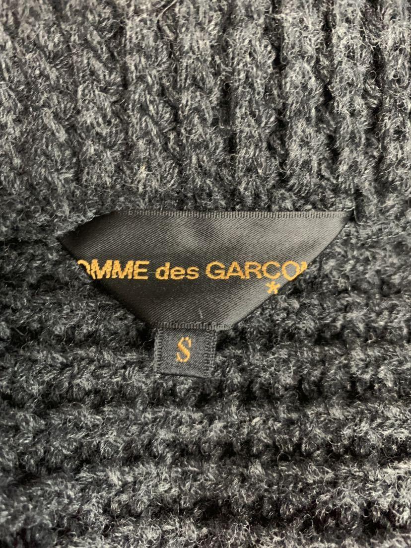 【02AW】Comme des Garcons 名作 変形 捻れ ニット トレンチコート Sサイズ Knitting is free期 ランウェイ登場モデル コムデギャルソン_画像6