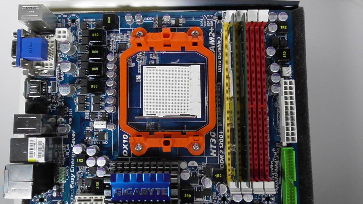 動作確認済 マザーボード メモリー付き GIGABYTE GA-MA780G-UD3H AMD AM3_画像4
