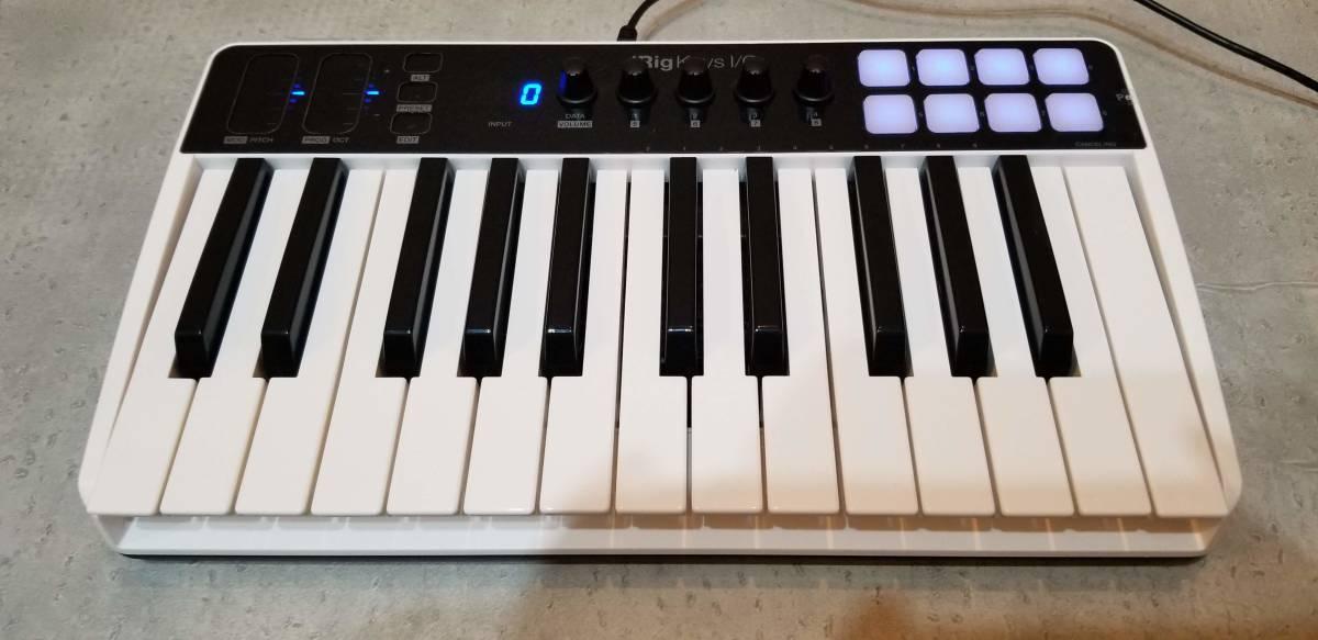 送料無料 IKMultimedia 『iRig Keys I/O 25』 コンパクトMIDIキーボード 完動美品 元箱あり 専用トラベルバッグ(6000円相当)付属