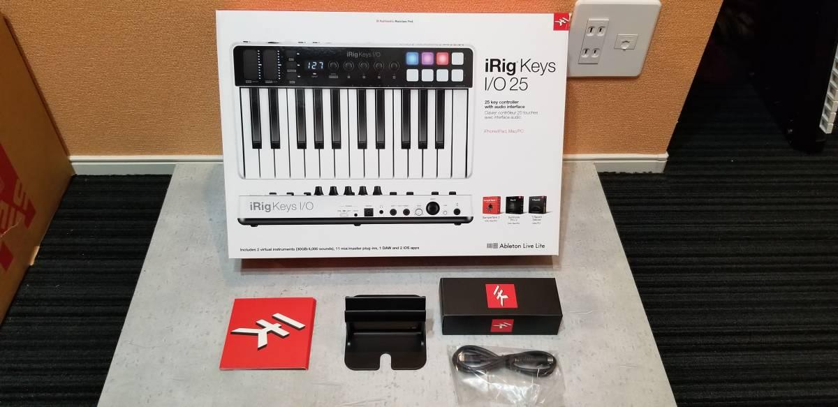 送料無料 IKMultimedia 『iRig Keys I/O 25』 コンパクトMIDIキーボード 完動美品 元箱あり 専用トラベルバッグ(6000円相当)付属_画像3