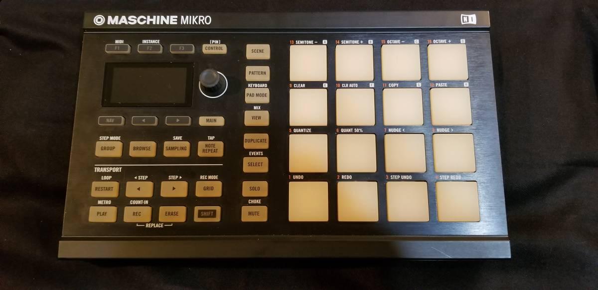 送料無料 Native Instruments Maschine Mikro MK2 パッドコントローラー ソフトウェア付属(トランスファーID付) 完動品 元箱あり_画像2