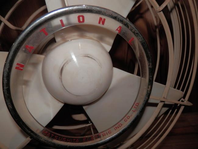 昭和レトロ 40年代のNATIONAL ELECTRIC FAN T-2 扇風機 可動品_画像3