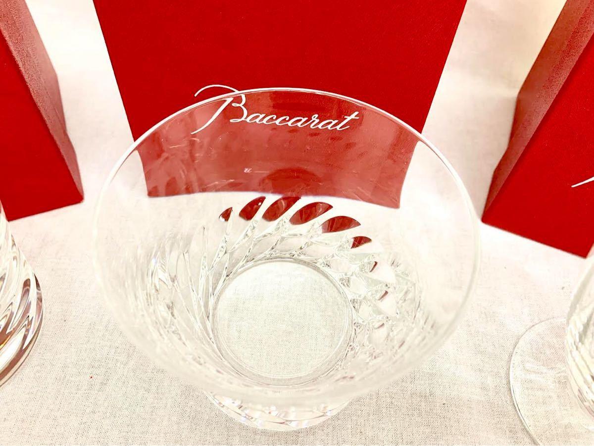 【未使用品】バカラ Baccarat 食器 3点セット ローラ 2012 グローリア 2016 フロール ワイングラス ロックグラス タンブラー クリスタル_画像5