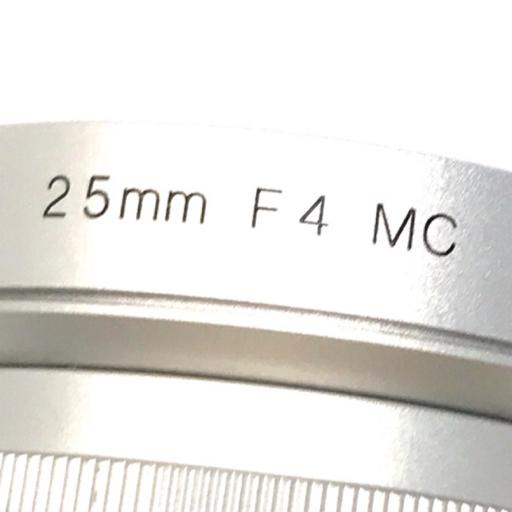 Voigtlander SNAPSHOT-SKOPAR 25mm F4 MC シルバー Leicaマウント フォクトレンダー_画像4