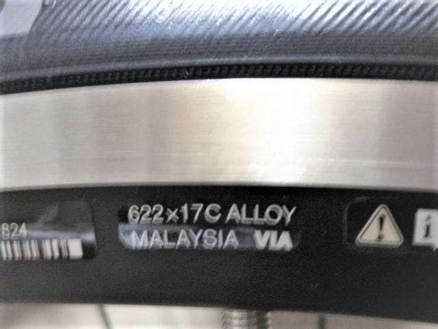 新車外しの未使用新品!! シマノWH-RS100 11速 622-17cワイドリム リッチーコンプスリック25c_画像2