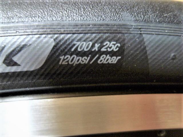 新車外しの未使用新品!! シマノWH-RS100 11速 622-17cワイドリム リッチーコンプスリック25c_画像5