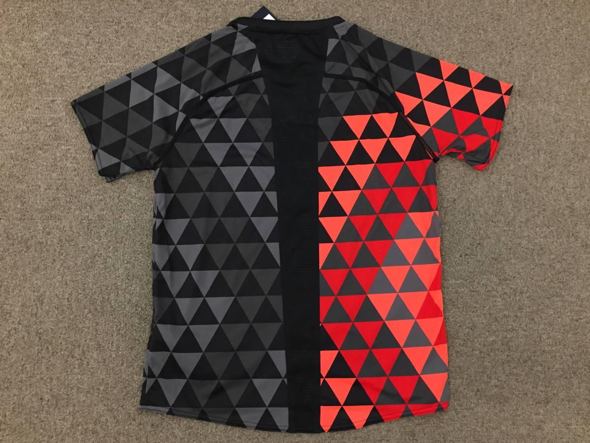 2017 世界陸上ロンドン 陸上競技 日本代表 JAAFオフィシャル×asicsアシックス オーセンティックTシャツ ブラック×サンライズレッド格子M_画像5
