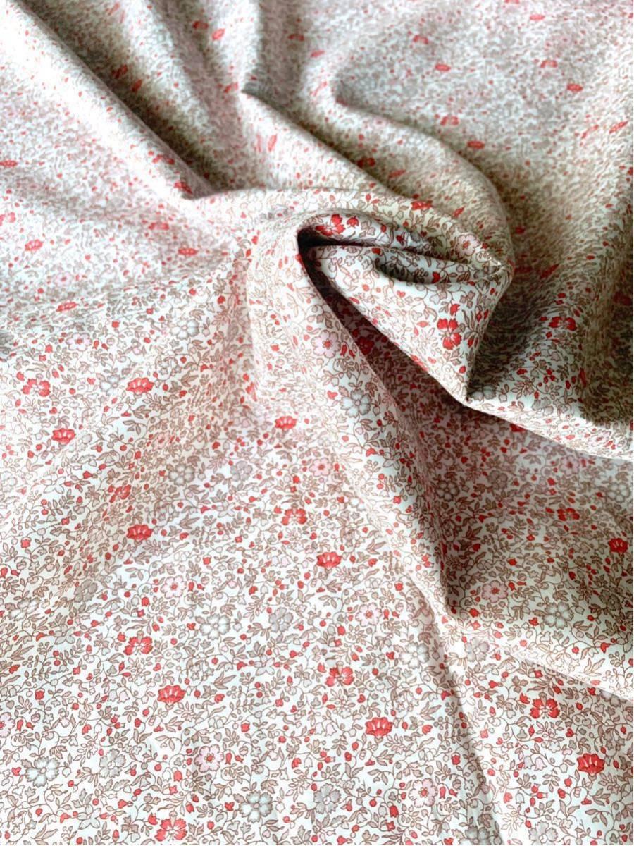 輸入リバティ タナローン「Katie & Millie ケイティ アンド ミリー」赤系 生地幅138cm×209cm_画像2