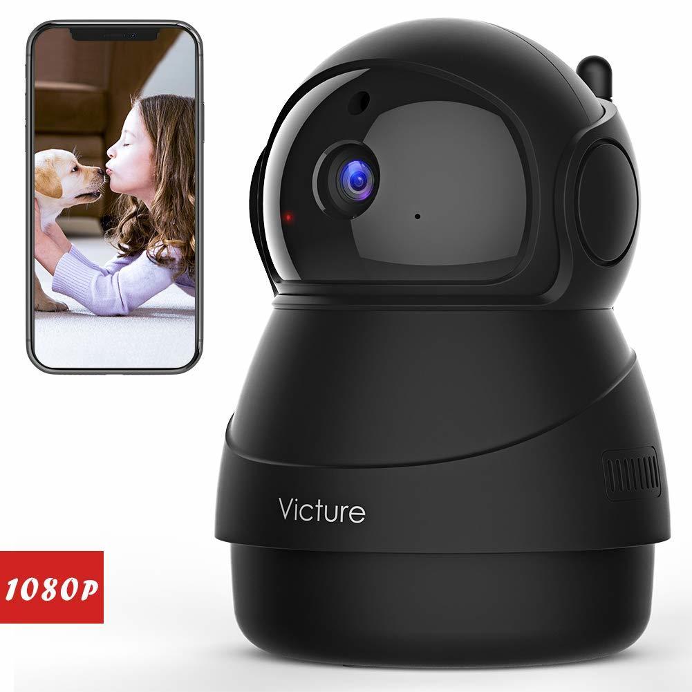 【新品未使用】ネットワークカメラ FHD WiFi 屋内ワイヤレス 動体検知 暗視撮影 家庭監視ディスプレイ 双方向音声 ベビー/ペット