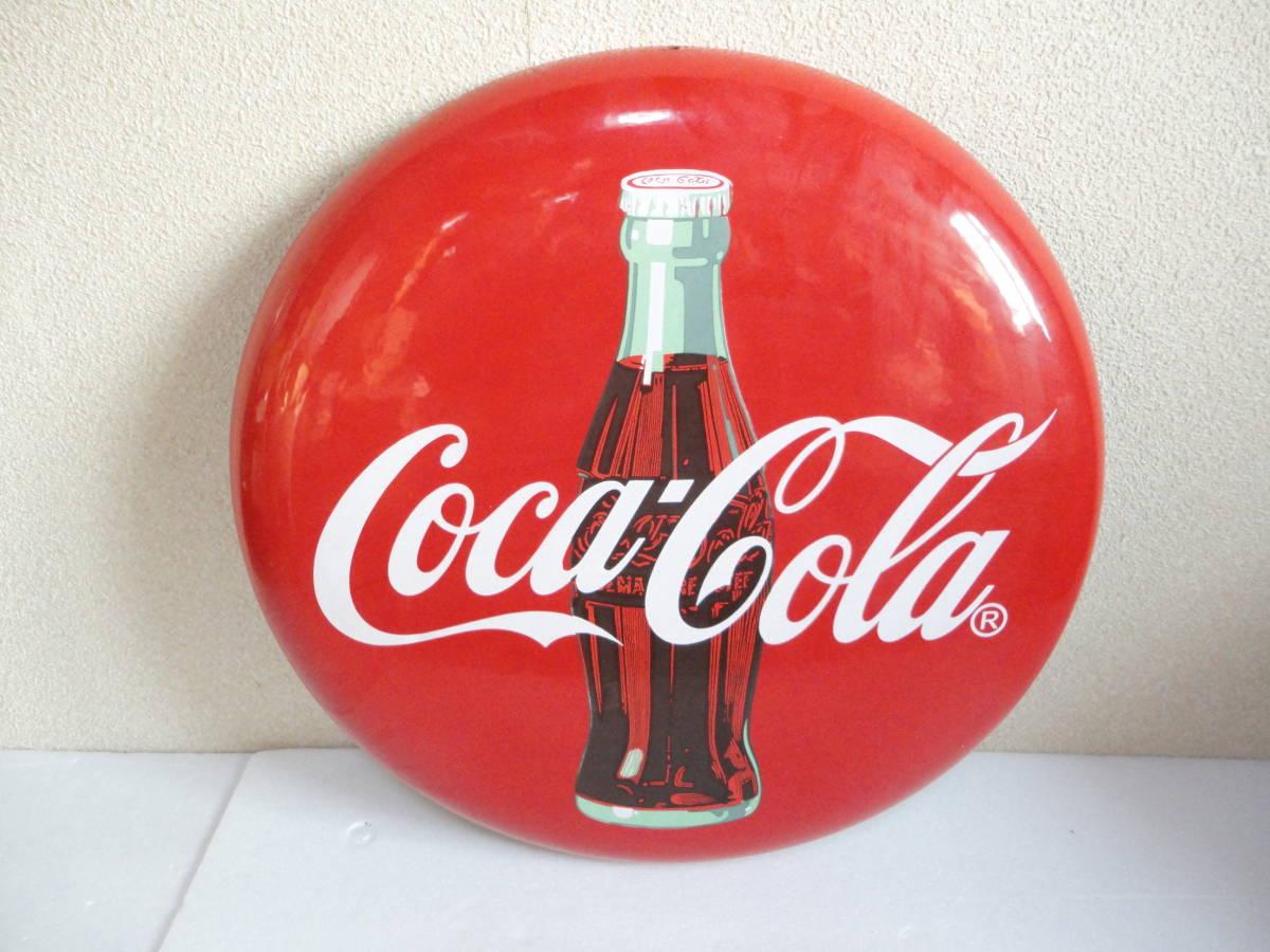 【中古】 コカ・コーラー/コカコーラー/Coca-Colaー 看板/ホーロー看板 丸形 直径:約50cm レトロ アンティーク ビンテージ