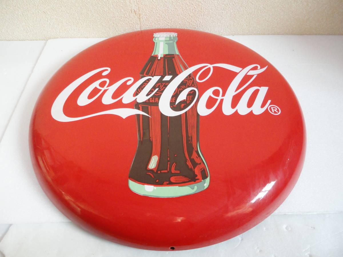 【中古】 コカ・コーラー/コカコーラー/Coca-Colaー 看板/ホーロー看板 丸形 直径:約50cm レトロ アンティーク ビンテージ_画像3
