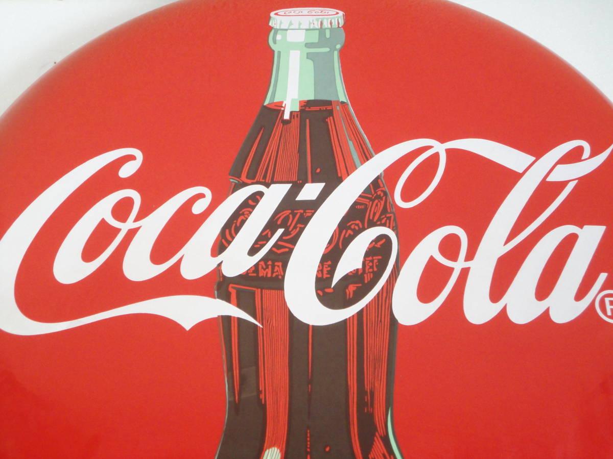 【中古】 コカ・コーラー/コカコーラー/Coca-Colaー 看板/ホーロー看板 丸形 直径:約50cm レトロ アンティーク ビンテージ_画像4
