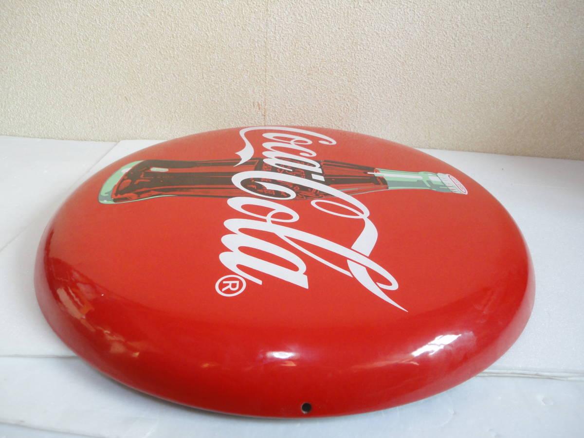 【中古】 コカ・コーラー/コカコーラー/Coca-Colaー 看板/ホーロー看板 丸形 直径:約50cm レトロ アンティーク ビンテージ_画像9