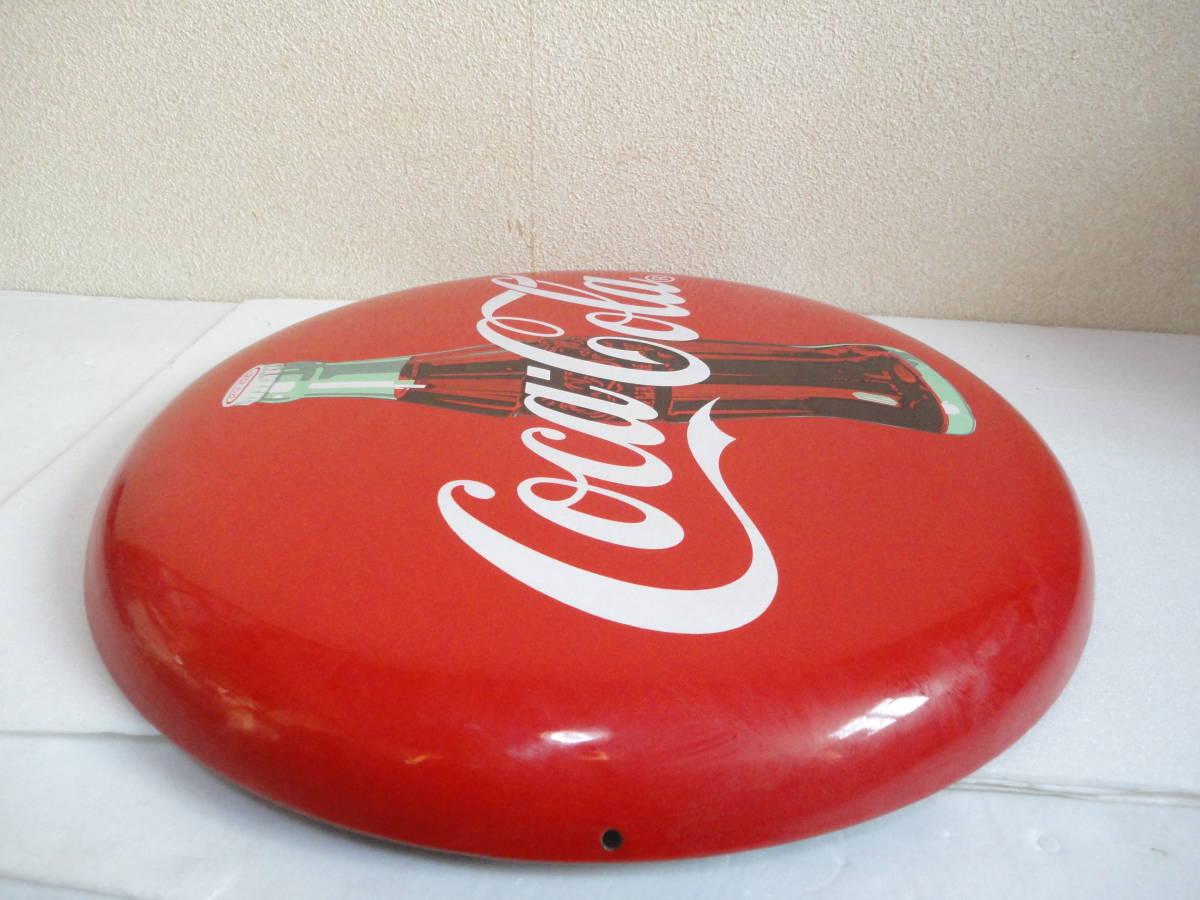 【中古】 コカ・コーラー/コカコーラー/Coca-Colaー 看板/ホーロー看板 丸形 直径:約50cm レトロ アンティーク ビンテージ_画像8