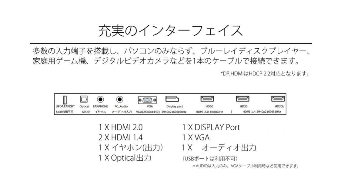 JAPANNEXT JN-VC650UHD 4K 65インチ曲面液晶ディスプレイ テレビ TV PCモニター 世界初! ELED_画像5