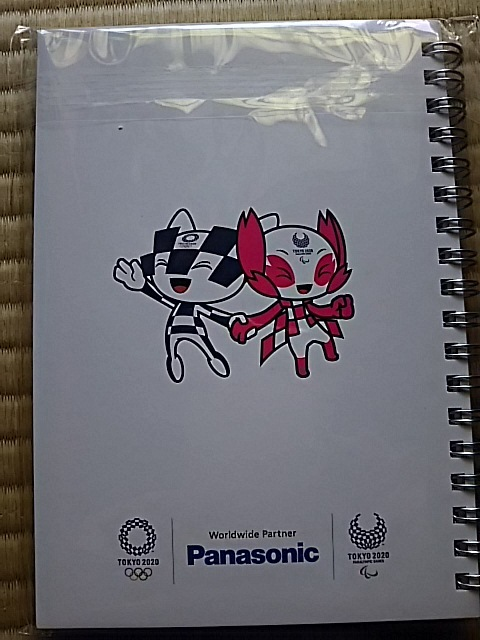 パナソニック Panasonic 東京オリンピック2020 B6サイズ 方眼紙 メモ帳 非売品_画像2