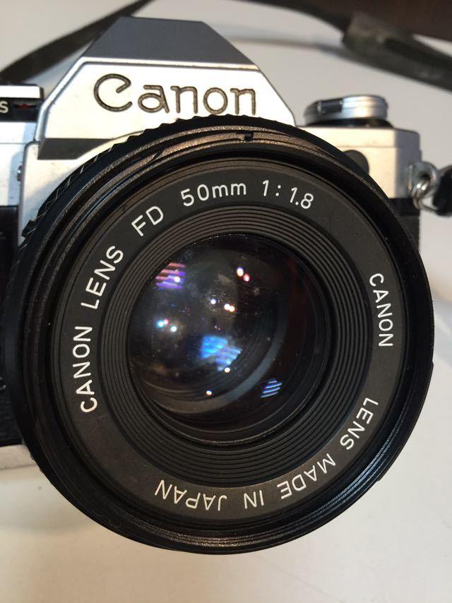 YO03 Canon カメラ AE-1 FD 50mm 1:1.8 キャノン_画像2