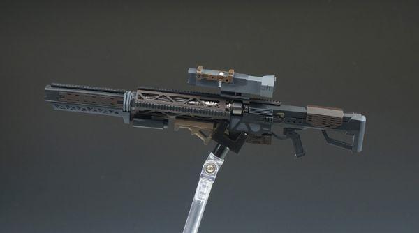 (GKP-008)MG 1/100 ガンダム ジム・スナイパー 用ビーム・ライフル 通用武器 改造パーツ 未組立 ガレージキット_画像5