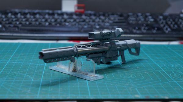 (GKP-008)MG 1/100 ガンダム ジム・スナイパー 用ビーム・ライフル 通用武器 改造パーツ 未組立 ガレージキット_画像2
