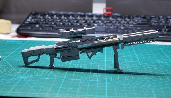 (GKP-008)MG 1/100 ガンダム ジム・スナイパー 用ビーム・ライフル 通用武器 改造パーツ 未組立 ガレージキット_画像6