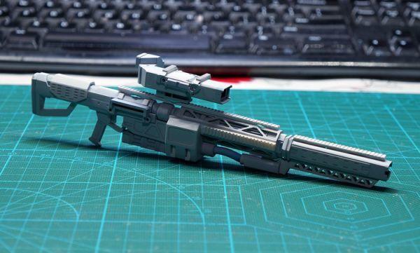 (GKP-008)MG 1/100 ガンダム ジム・スナイパー 用ビーム・ライフル 通用武器 改造パーツ 未組立 ガレージキット_画像7