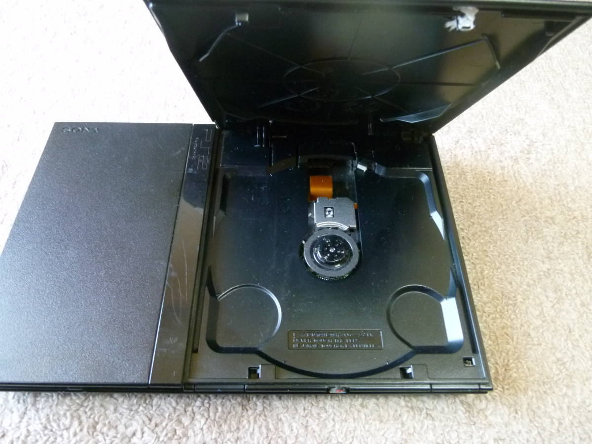 SONY PS2・PlayStation2・プレステ2 本体のみ SCPH-70000 薄型 動作確認済 ブラック 37_画像7