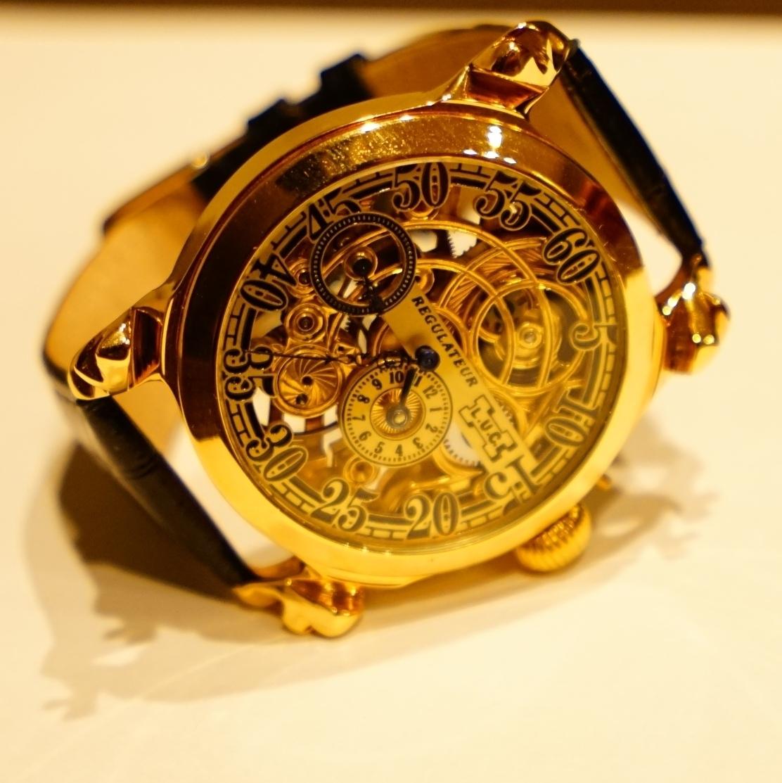 新品仕上げ ショパール Louis Ulysse Chopard アンティーク フルスケルトン アールデコ 手巻 腕時計 リケース シルバー 動作品 メンズ_画像2