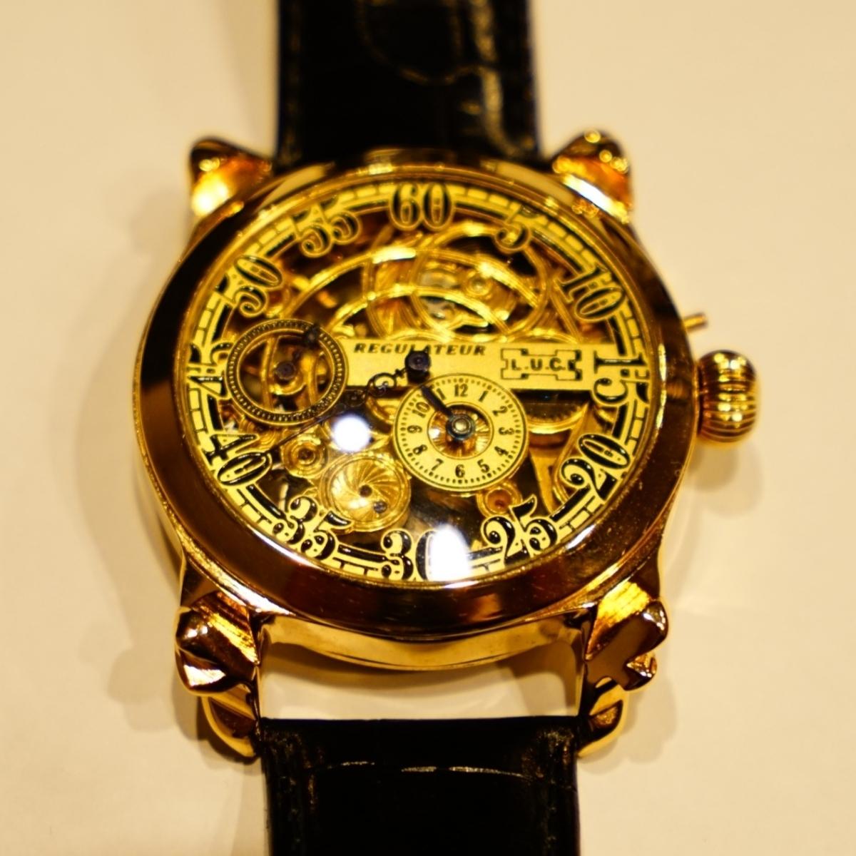 新品仕上げ ショパール Louis Ulysse Chopard アンティーク フルスケルトン アールデコ 手巻 腕時計 リケース シルバー 動作品 メンズ_画像1