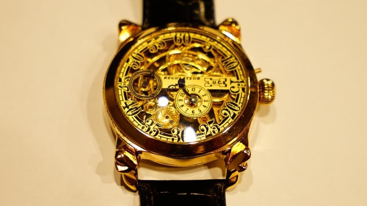 新品仕上げ ショパール Louis Ulysse Chopard アンティーク フルスケルトン アールデコ 手巻 腕時計 リケース シルバー 動作品 メンズ_画像7