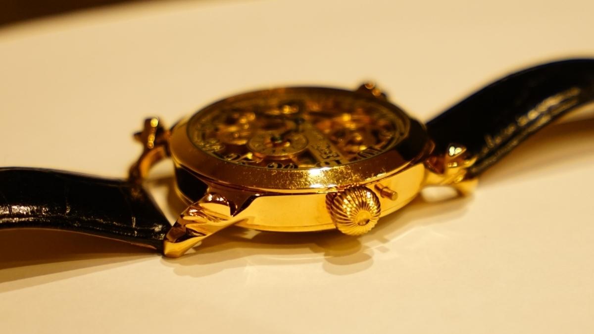 新品仕上げ ショパール Louis Ulysse Chopard アンティーク フルスケルトン アールデコ 手巻 腕時計 リケース シルバー 動作品 メンズ_画像5
