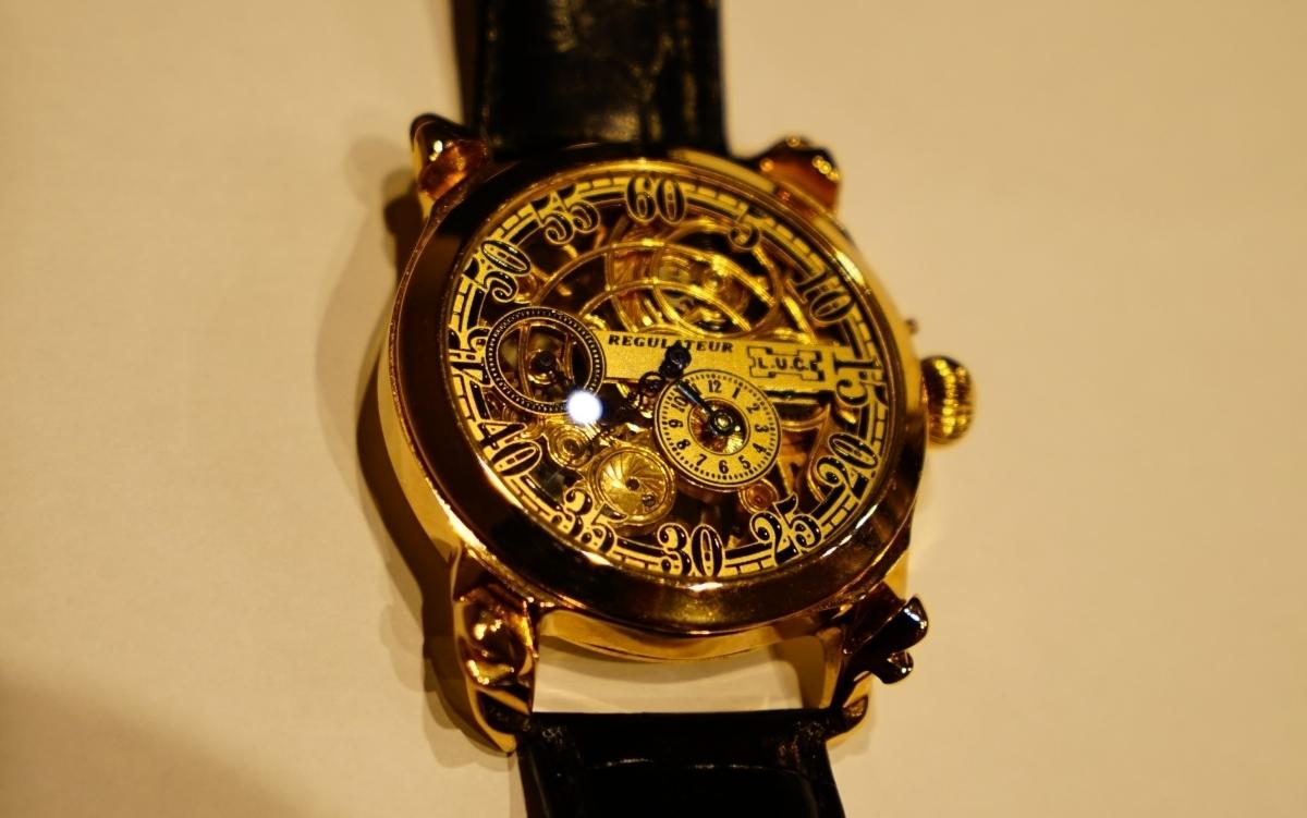 新品仕上げ ショパール Louis Ulysse Chopard アンティーク フルスケルトン アールデコ 手巻 腕時計 リケース シルバー 動作品 メンズ_画像6