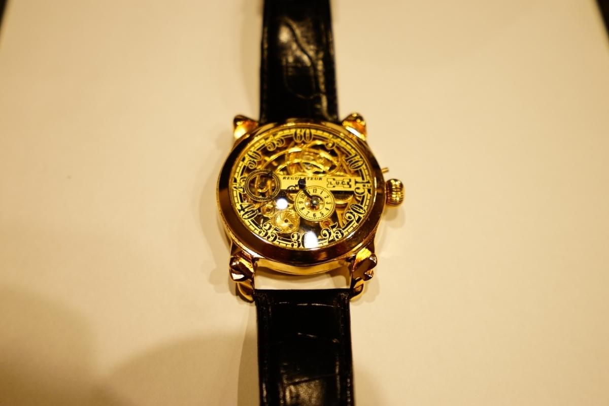 新品仕上げ ショパール Louis Ulysse Chopard アンティーク フルスケルトン アールデコ 手巻 腕時計 リケース シルバー 動作品 メンズ_画像10