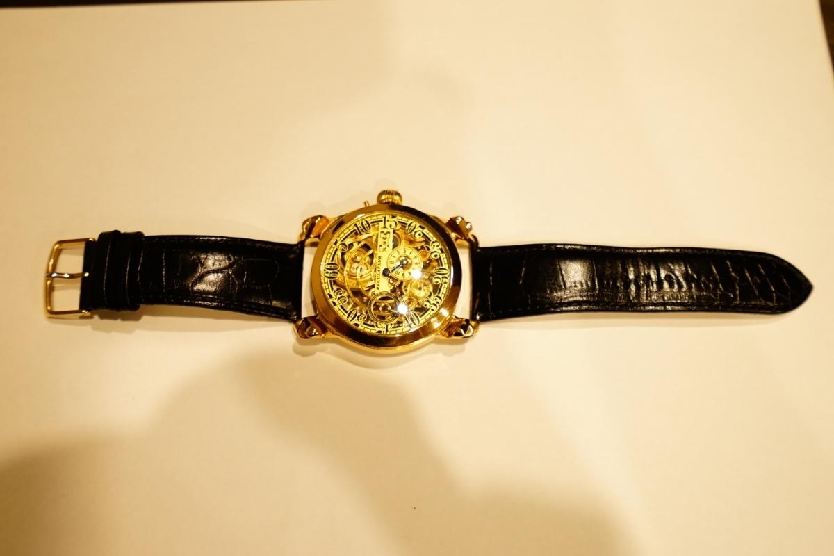 新品仕上げ ショパール Louis Ulysse Chopard アンティーク フルスケルトン アールデコ 手巻 腕時計 リケース シルバー 動作品 メンズ_画像9