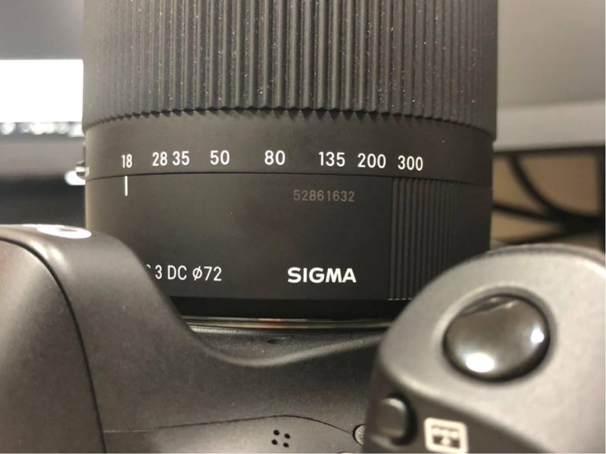 【ショット少 美品】EOS80D+SIGMA 18-300(一部新品)_画像5