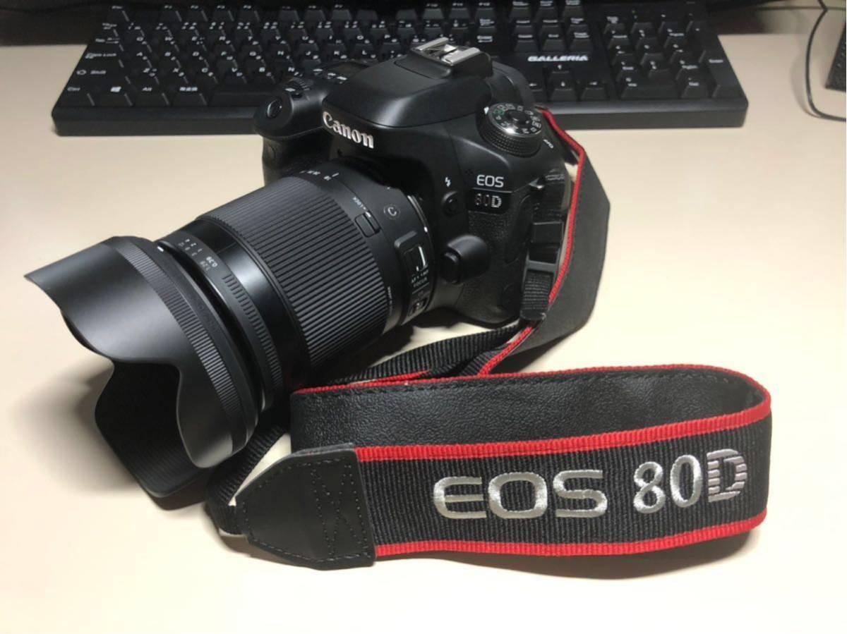 【ショット少 美品】EOS80D+SIGMA 18-300(一部新品)_画像7