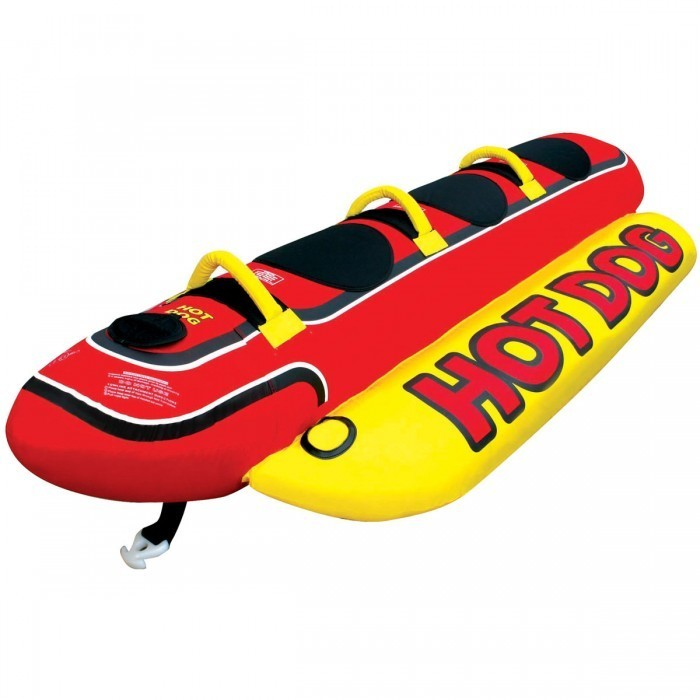 新品 AIRHEAD トーイングチューブ HOT DOG ロープ付 3人 乗り バナナボート マリンスポーツ 水上 スキー ジェット バイク_画像5
