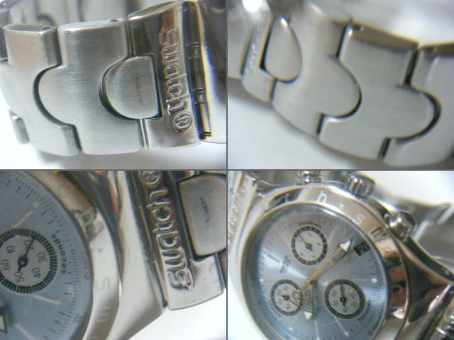 ★スイス腕時計Swatch ironyクロノグラフ Swiss スイス腕時計本物可動品 送料全国360円  _画像3