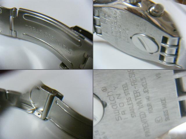 ★スイス腕時計Swatch ironyクロノグラフ Swiss スイス腕時計本物可動品 送料全国360円  _画像4
