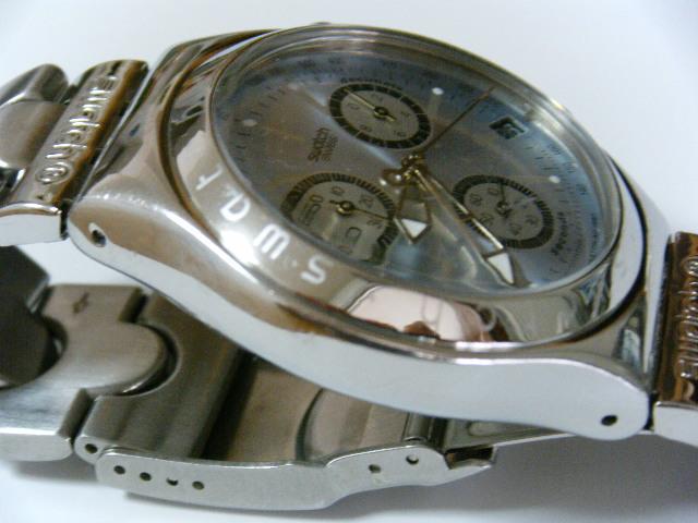 ★スイス腕時計Swatch ironyクロノグラフ Swiss スイス腕時計本物可動品 送料全国360円  _画像7