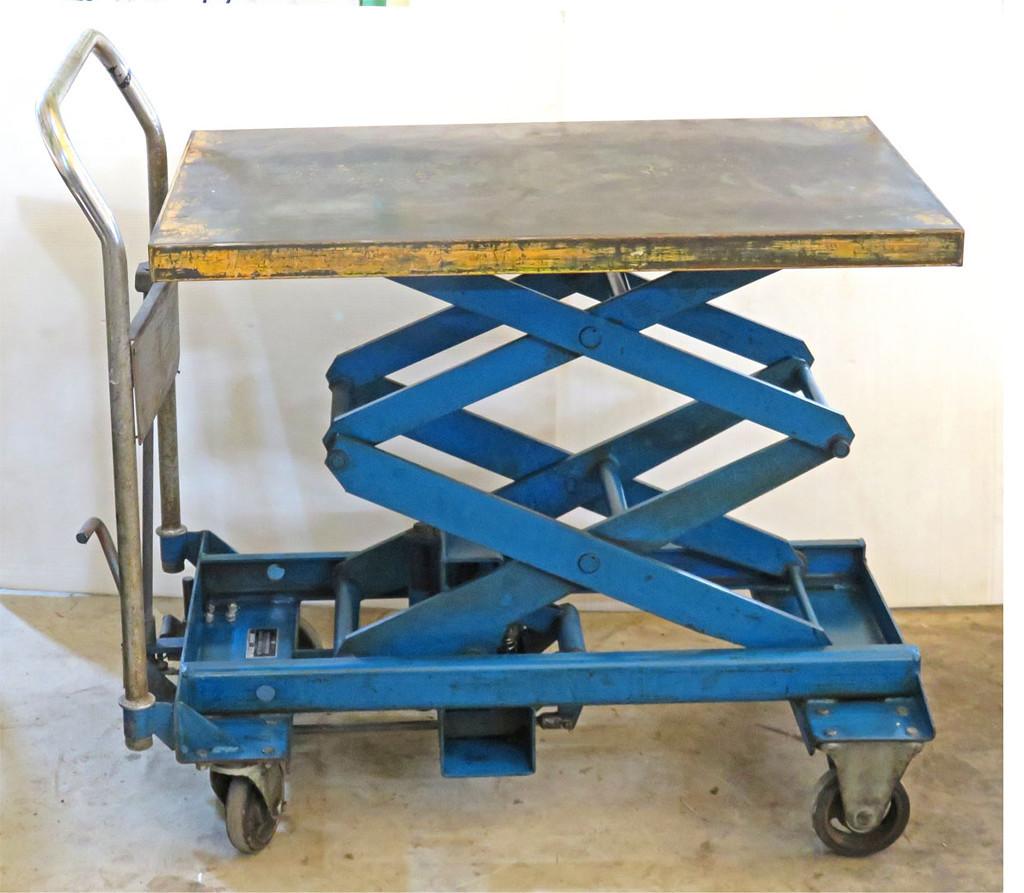花岡車輌 足踏式リフト DANDY ダンディ テーブルリフト 350kg 昇降台車 リフター 中古品