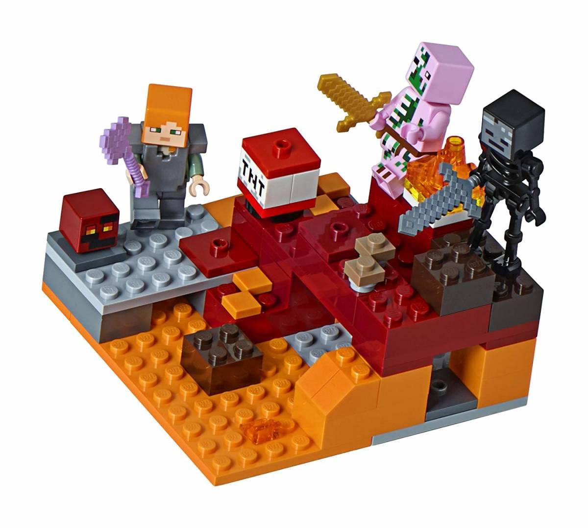正規品 レゴ マインクラフト 暗黒界の戦い 21139 ネザー LEGO ミニフィグ ミニフィギュア_画像4