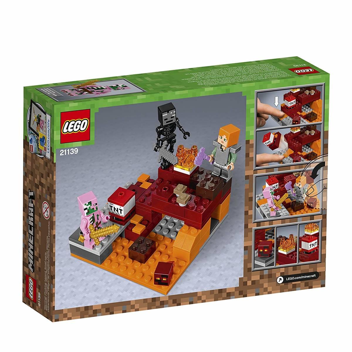正規品 レゴ マインクラフト 暗黒界の戦い 21139 ネザー LEGO ミニフィグ ミニフィギュア_画像3