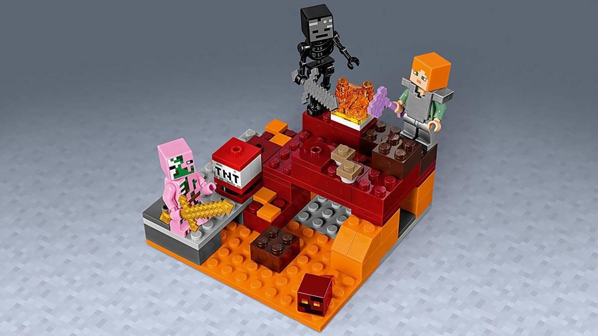 正規品 レゴ マインクラフト 暗黒界の戦い 21139 ネザー LEGO ミニフィグ ミニフィギュア_画像5